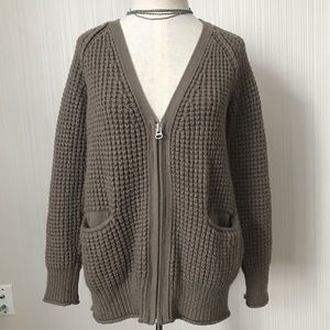 Wilfred Free Marin Chunky Knit Zip up Cardigan
